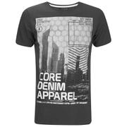 Dissident Men's Arrow Crane Graphic Print T-Shirt - Raven Grey