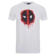 Deadpool Men's Paint Logo Camiseta - Blanco