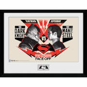 DC Comics Batman v Superman Dawn of Justice Face Off - 16 x 12 Inches Framed Photographic