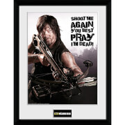 The Walking Dead Daryl Shoot Me - 16 x 12 Inches Framed Photographic