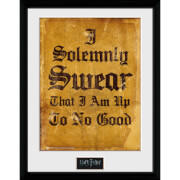 Harry Potter I Solomnly Swear - 16 x 12 Inches Framed Photographic
