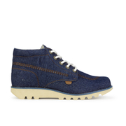 Kickers Mens Kick Hi Denim Boots  Dark Blue  UK 6.5