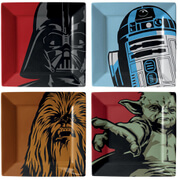 Funko Homeware Star Wars Iconic Character Graphic Set of 4 Plates