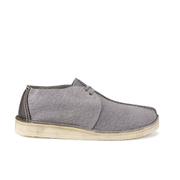 Clarks Originals Men's Desert Trek Leather Boots - Blue/Grey - UK 11 - Salescache