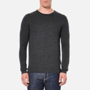 Selected Homme Men's Tower Merino Crew Neck Knitted Jumper - Medium Grey Melange