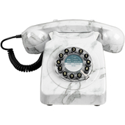 Retro 746 Marble Brushed Telephone