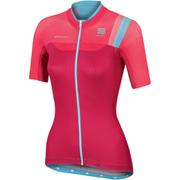 Sportful Womens BodyFit Pro Short Sleeve Jersey  PinkBlue  S