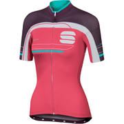 Sportful Gruppetto Womens Short Sleeve Jersey  PinkWhitePurple  M