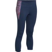 Under Armour Women's Mirror Printed Crop Leggings - Navy Blue