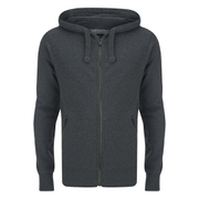 Smith & Jones Men's Palazzo Zip Through Hoody - Black Marl
