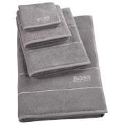 Hugo BOSS Plain Towel Range - Concrete - Face Cloth - Grey