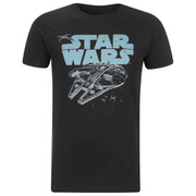 Star Wars Retro Falcon Heren T-Shirt - Zwart