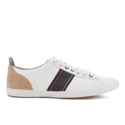 PS by Paul Smith Men's Osmo Leather Low Top Trainers - White Mono Lux