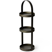 Wireworks Dark Oak 3 Tray Round Caddy