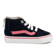 Vans Toddlers' Sk8-Hi Zip Trainers - Navy/Pink - UK 6 Toddler