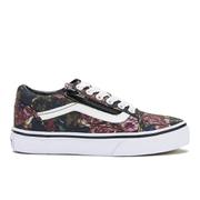 Vans Kids' Old Skool Zip Trainers - Moody Floral/Black/True White - UK 11 Kids
