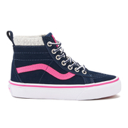 Vans Kids' Sk8-Hi Zip Trainers - Navy/Pink - UK 11 Kids