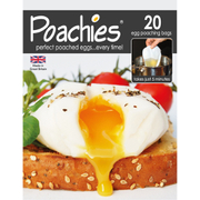Poachies Egg Poaching Bags - White/Black