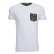 Brave Soul Men's Pulp Camo Pocket T-Shirt - White