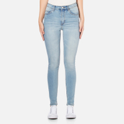 Cheap Monday Women's 'Second Skin' Skinny Fit Jeans - Stonewash Blue - W24/L30