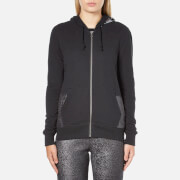 Converse Women's All Star Metallic Full Zip Hoody - Black - S