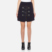 Carven Women's Duffle Button Skirt - Navy