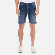 Selected Homme Men's Npep Denim Shorts - Dark Blue Denim