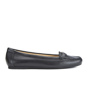 MICHAEL MICHAEL KORS Women's May Leather Moc Flat Pumps - Black