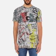 Vivienne Westwood Anglomania Men's Newspaper Rubbish T-Shirt - Grey
