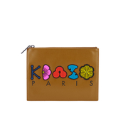 KENZO Women's Occassions A4 Clutch - Tan