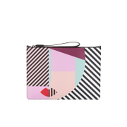 Lulu Guinness Women's Anna Doll Face Large Clutch - Multi