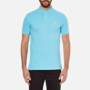 Polo Ralph Lauren Mens Custom Fit Polo Shirt  French Turquoise  M