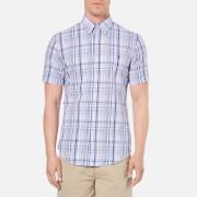 Polo Ralph Lauren Mens Checked Short Sleeve Shirt  PinkBlue  S