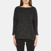 BOSS Orange Women's Widianna Speckled Jumper - Black - XS
