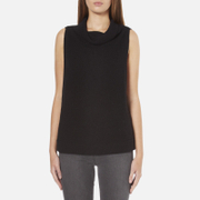 BOSS Orange Women's Willimply Sleevless Arm Drop Tunic Top - Black