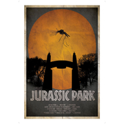 Jurassic Park Inspired Illustrative Art Print - 11.7 x 16.5 Inches