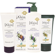 A'kin Hair and Body Lavender Trio (Worth £40.00)