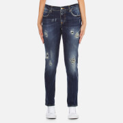Vivienne Westwood Anglomania Womens New Billy Organic Jeans  Distressed Blue  W30L28