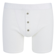 Levi's Men's Long Button Boxers - White