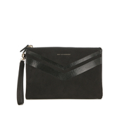 WANT LES ESSENTIELS Women's Barajas Zip Folio - Black Nubuck Stripe