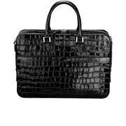 Aspinal of London Women's Small Mount Street Tech Bag - Black Croc