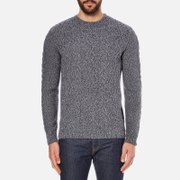 Barbour Heritage Men's Barnard Cable Knitted Jumper - Denim Mix