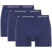 Bjorn Borg Men's Solids Boxer Shorts - Blue Depths - S