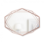 Umbra Prisma Geometric Mirror - Copper