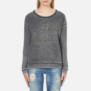 Maison Scotch Women's Basic Burn Out Theme Sweatshirt - Grey - 2/UK 10