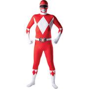 Power Rangers Mens 2nd Skin Red Power Ranger Fancy Dress  M
