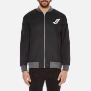 Billionaire Boys Club Men's Team Varsity Jacket - Black/Grey - XXL