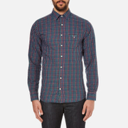 GANT Men's Small Indigo Tartan Shirt - Indigo