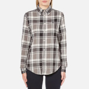 Polo Ralph Lauren Womens Georgia Flannel Shirt  Brown  S
