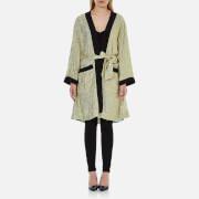 Ganni Women's Emiko Jacquard Kimono Dress - Sea Foam